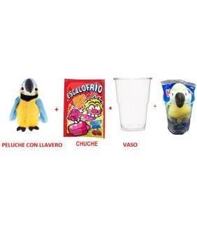 VASO CON PELUCHE LLAVERO +...