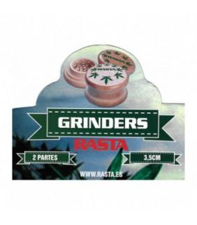 GRINDER MADERA RASTA 2 PARTES