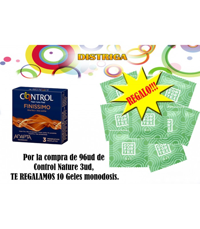 CONTROL ADAPTA NATURE 12 UND + GEL REGALO